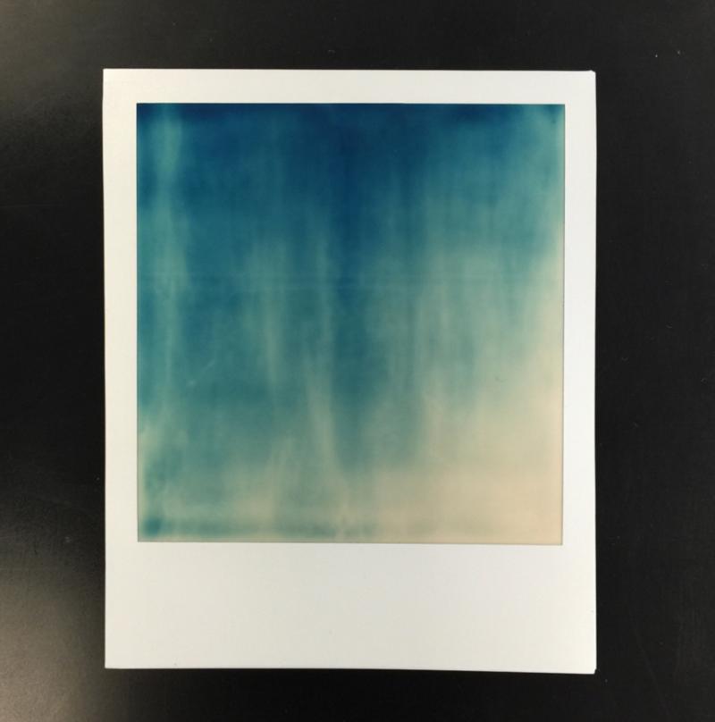 A failed polaroid still processing