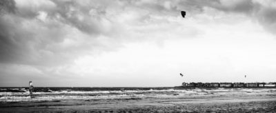 Troon Beach kitesurf ©Samuel F.